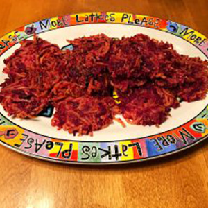 How to Make the Most Delicious Beet Latkes EVER!