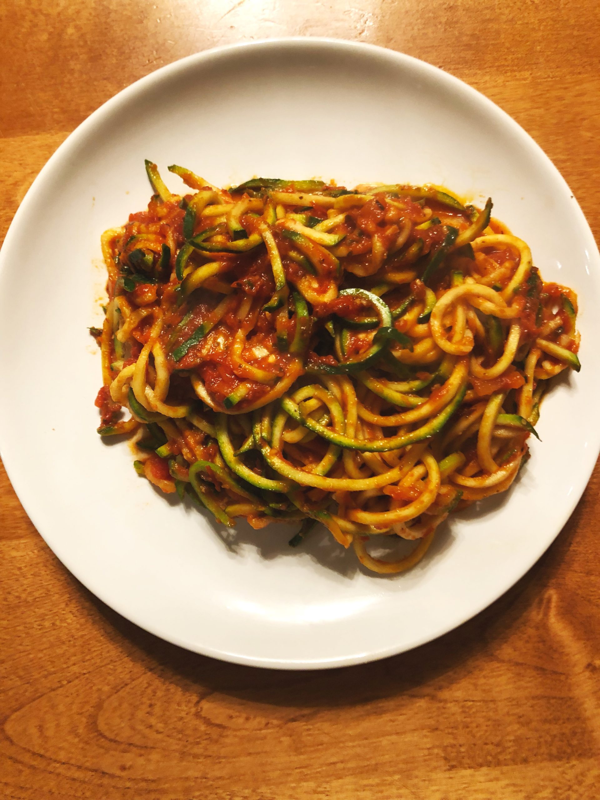zoodles, zucchini noodles, gluten free, dairy free, vegan