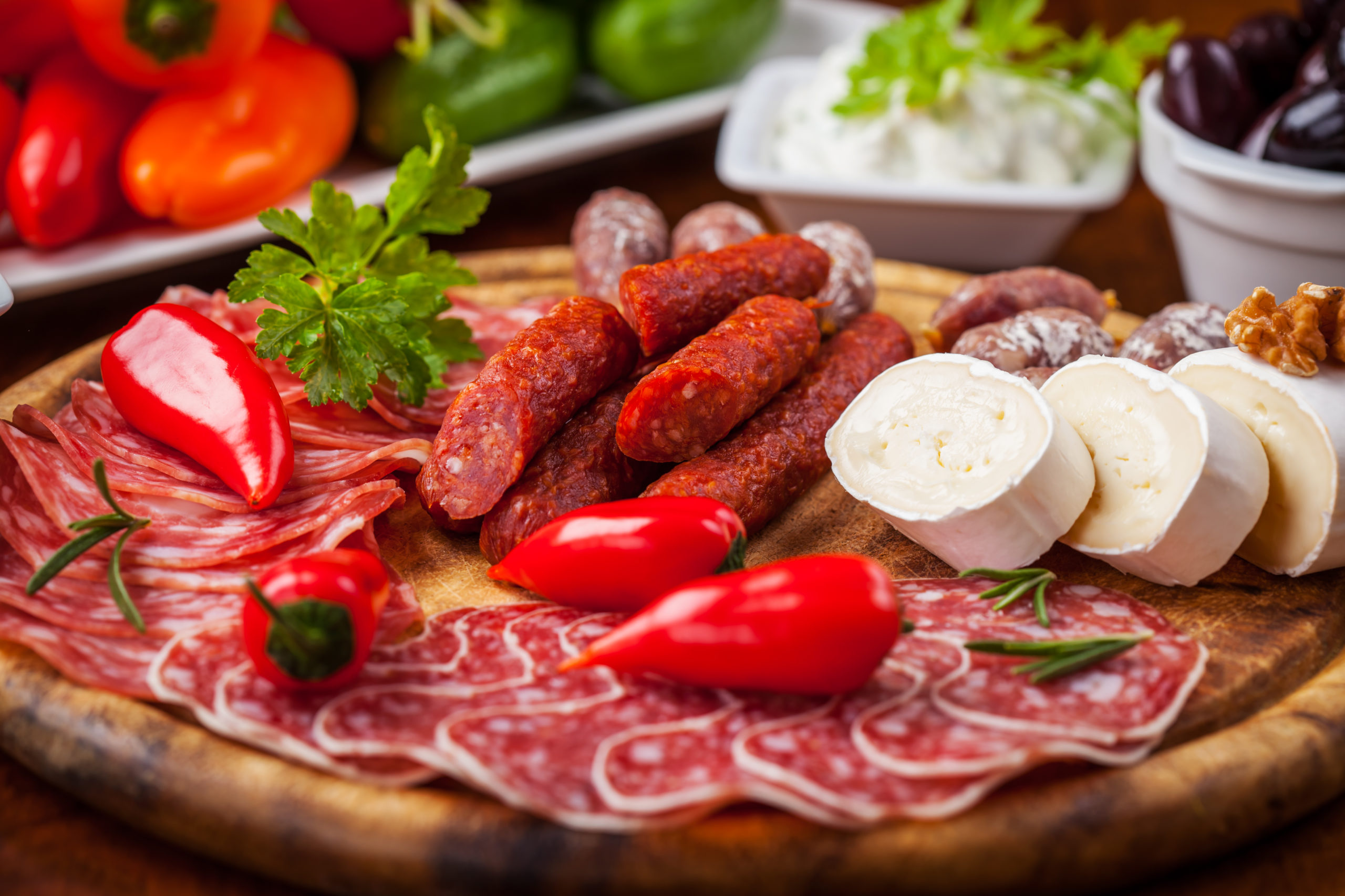 Meat and cheese products