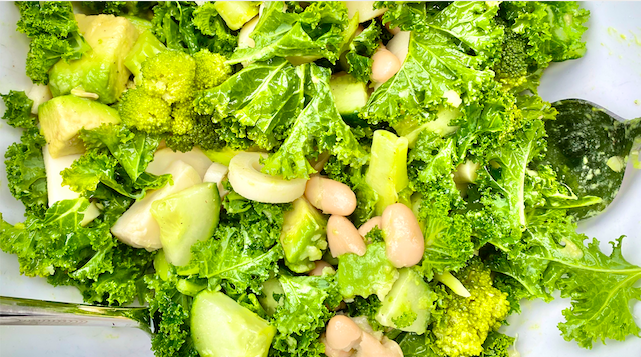 Cucumber, Hearts of Palm, and Broccoli Salad